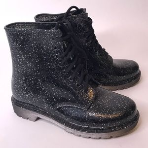 Like New Circus Sam Edelman Black Sparkle Boots
